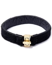 George Frost | Metallic Gold-plated Bond Calf-hair Bracelet | Lyst