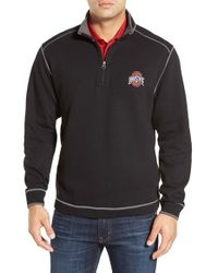 Cutter & Buck | Black 'ohio State University Buckeyes - Overtime' Regular Fit Half Zip Sweatshirt for Men | Lyst