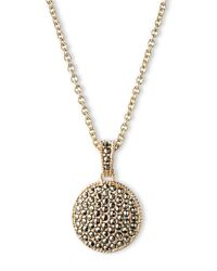 Judith Jack | Metallic 14k Gold And Swarovski Marcasite Pendant Necklace | Lyst
