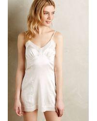 Salua - White Lydie Silk Slip - Lyst