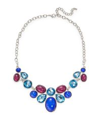 Catherine Stein | Blue Jeweled Bib Necklace | Lyst