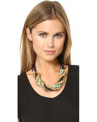 Ben-Amun | Metallic Braided Necklace | Lyst