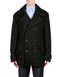 Dolce & Gabbana - Gray Coat for Men - Lyst