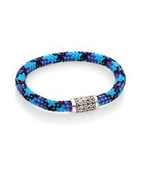John Hardy - Blue Classic Chain Sterling Silver Sailing Cord Station Bracelet - Lyst
