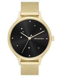 Skagen | Black 'anita - Starry Night' Round Watch | Lyst