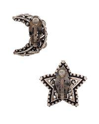 Lanvin | Metallic Star & Moon Earrings | Lyst