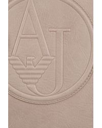 Armani Jeans - Natural Logo-Embossed Faux-Leather Shopper - Lyst