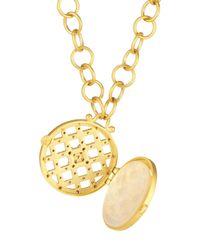 Freida Rothman - Metallic 14k Vermeil Cz Cage Locket Link Chain Necklace - Lyst