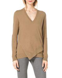 Michael Kors - Brown Layered Asymmetric Sweater - Lyst