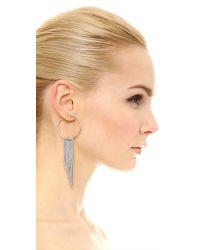 Rebecca Minkoff - Metallic Fringe Hoop Earrings - Lyst