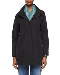 Eileen Fisher - Black Ako Hooded A-line Jacket - Lyst