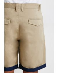 Forever 21 | Brown Contrast-cuff Shorts for Men | Lyst