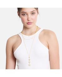 Tada & Toy - Metallic Falling Star Chain Necklace Gold - Lyst