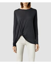 AllSaints - Black Cann Long Sleeve Tee - Lyst