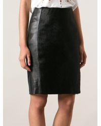Muubaa - Black Panelled Pencil Skirt - Lyst