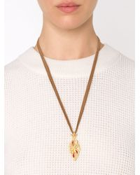 Cathy Waterman | Brown 'tree Of Life' Pendant Necklace | Lyst