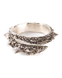 Henson | Metallic 'barb' Wrap Diamond Bangle | Lyst