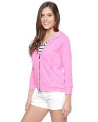 Splendid | Pink Slub Active Pigment Hoodie | Lyst