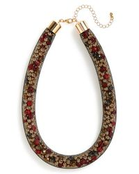 TOPSHOP | Multicolor Mesh Collar Necklace | Lyst