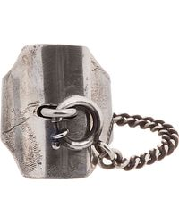 Ann Demeulemeester - Metallic Antiqued Silver Locking Ring for Men - Lyst