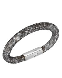 Swarovski | Black Stardust Double Bracelet Medium 40cm | Lyst