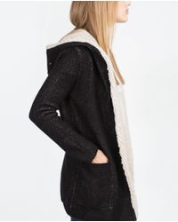 Zara | Black Short Coat | Lyst