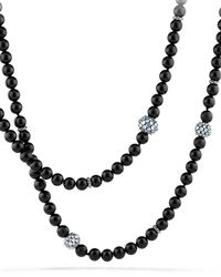David Yurman - Osetra Necklace With Black Onyx And Moonstone - Lyst