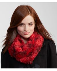 Aéropostale | Red Plaid Eyelash Snood | Lyst