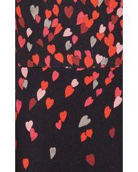 Giamba - Black Printed A-line Mini Dress - Lyst