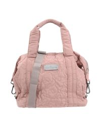 Lyst - adidas By Stella McCartney Medium Quilted Gym Bag in Pink fc7cbde5e7