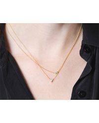 Vrai & Oro | Metallic Trillion Diamond Necklace | Lyst