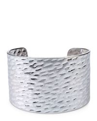 Jaeger | Metallic Hammered Metal Cuff | Lyst