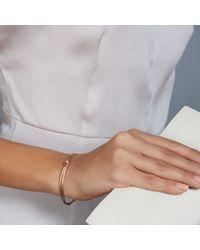 Astley Clarke - Pink Rose Gold Overhand Knot Bracelet - Lyst