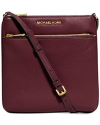 Michael Kors | Purple Michael Riley Small Flat Crossbody | Lyst