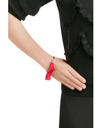 Aurelie Bidermann - Red Sioux Gold Plated Bracelet With Turquoise And Coral - Lyst
