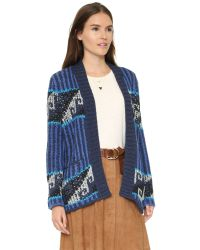 Free People - Blue Time And Again Cardigan - Lyst