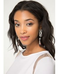 Bebe - Metallic Lucite & Crystal Earrings - Lyst