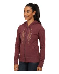 Patagonia | Purple Desert Roots Mid Weight Full-zip Hooded Sweatshirt | Lyst