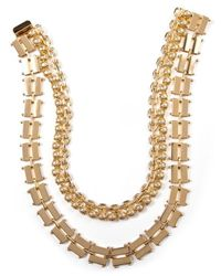 Elizabeth Cole | Metallic Parker Necklace, Gold | Lyst