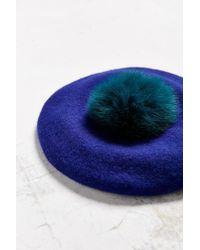 Genie by Eugenia Kim - Blue Hadley Pom Beret - Lyst