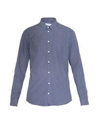 JOSEPH - Blue Polka-dot Cotton Shirt for Men - Lyst
