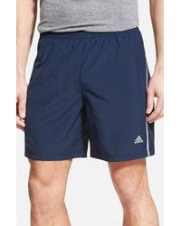 Adidas | Blue 'sequencials' Climacool Athletic Running Shorts for Men | Lyst