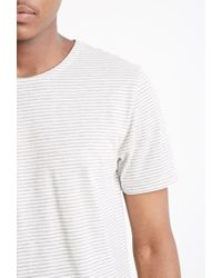 Forever 21 | Natural Vented Stripe Tee for Men | Lyst