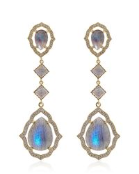 Sara Weinstock - Blue Large Taj Labradorite Earrings - Lyst