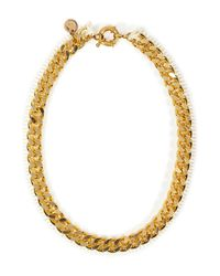 Annelise Michelson - Metallic Chainlinkleather Thorny Marieantoinette Necklace - Lyst