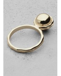 & Other Stories | Metallic Ball Ring | Lyst