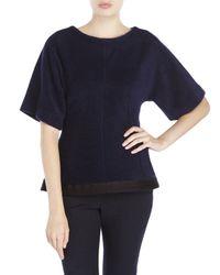 Ter Et Bantine | Blue Wool-Blend Peplum Top | Lyst