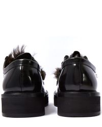 Paul Smith - Black Shearling Byron Lace Leather Shoes for Men - Lyst
