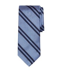 Brooks Brothers | Blue Textured Double Stripe Tie for Men | Lyst