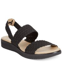 Easy Spirit | Black Talini Flat Sandals | Lyst